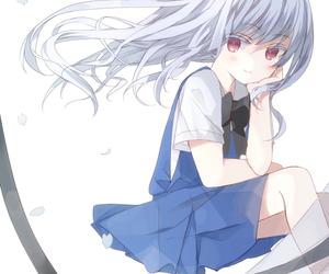 anime, anime girl, and school student image