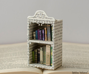 art, bookcase, and craft image