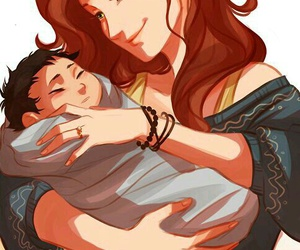 harry potter, lily evans, and percy jackson image