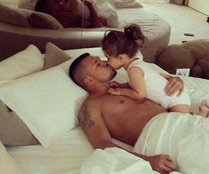 baby, cuddle, and dad image