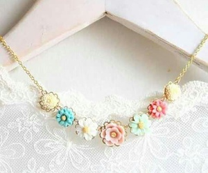 flowers, fashion, and necklace image