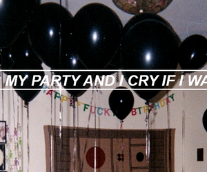 header, pity party, and tumblr image