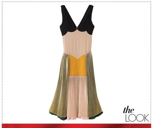 dress, pleated, and vogue image