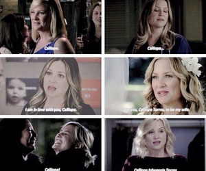 grey's anatomy, calzona, and callie torres image