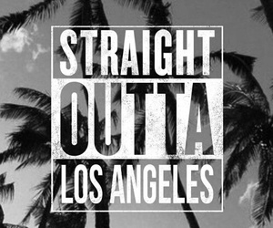 los angeles and straight outta image