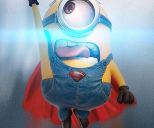 minions, superman, and despicable me image
