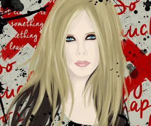 art, Avril Lavigne, and blue eyes image