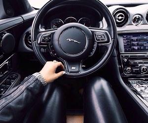 car, jaguar, and black image