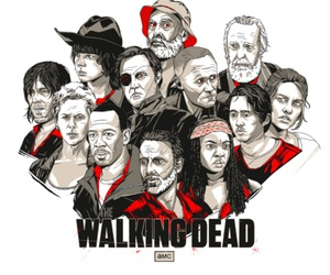 the walking dead, twd, and art image