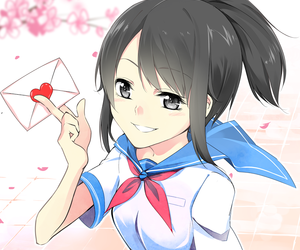 yandere simulator, yandere, and anime image