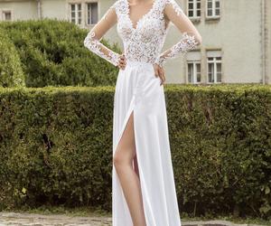 dress, beautiful, and lace image