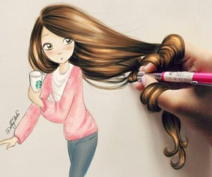 artistic, girly, and beautiful image