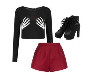 black, crop, and fashion image