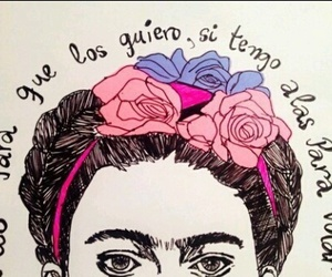 Frida, frida kahlo, and frases image