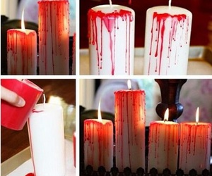 Halloween, diy, and candle image
