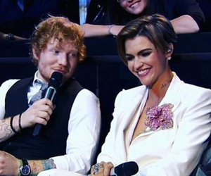 ruby rose, ed sheeran, and mtv ema 2015 image