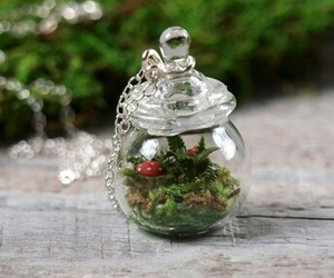 adorable, green, and necklace image