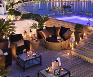 luxury, sea, and pool image