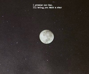 moon, stars, and don't let me go image