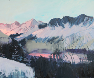 painting, art, and mountain image