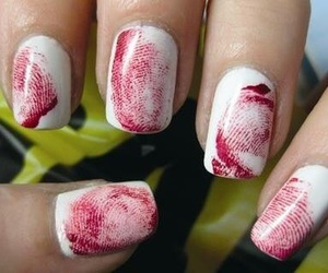 nails, Halloween, and blood image