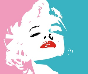 marilyn, pink, and blue image