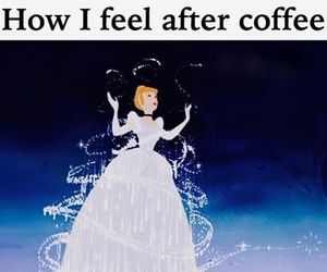 beauty, cinderella, and coffee image