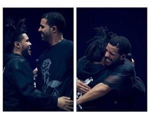 the weeknd, Drake, and ovoxo image
