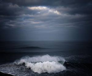 sea, dark, and clouds image