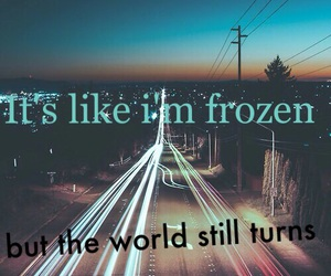 background, feelings, and frozen image