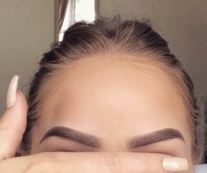 eyebrows, makeup, and nails image