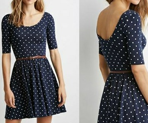 casual, dark blue, and dots image