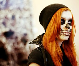 color hair, makeup, and Halloween image