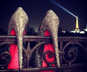 paris, louboutin, and heels image