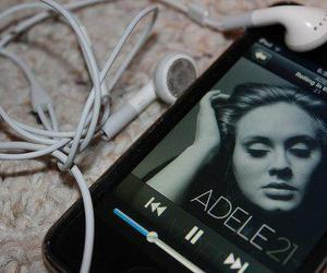 Adele, music, and iphone image