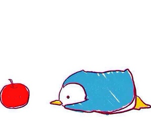 apple, penguin, and cute image