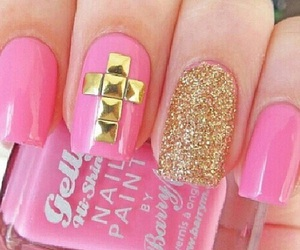 pink, nails, and pretty image