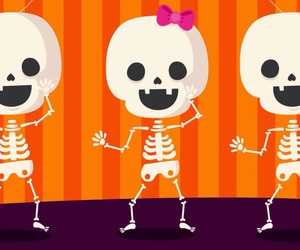 Halloween and skeletons image