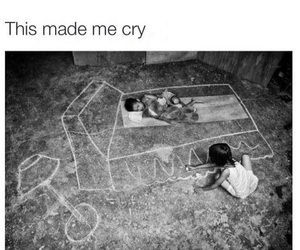 bed, chalk, and cry image