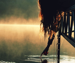 girl and lake image