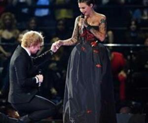 ed sheeran, ema, and ruby rose image