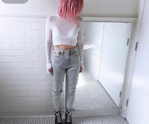 pink, fashion, and hair image