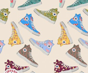 converse and wallpaper image