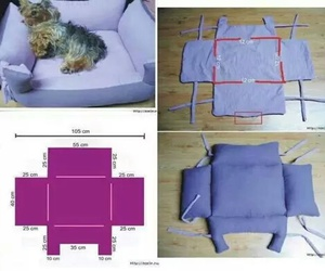 dog, bed, and diy image