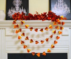 autumn, fall colors, and heart shape image