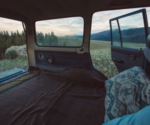 car, travel, and nature image