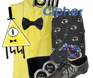 disney, gravity falls, and bill cipher image