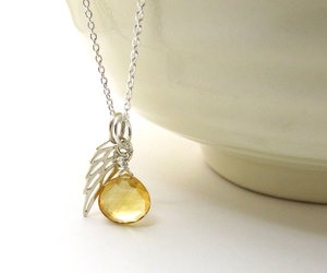 angel, angel wing, and citrine image