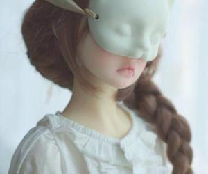 doll, mask, and cat image