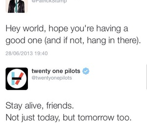 patrick stump, positive, and twitter image